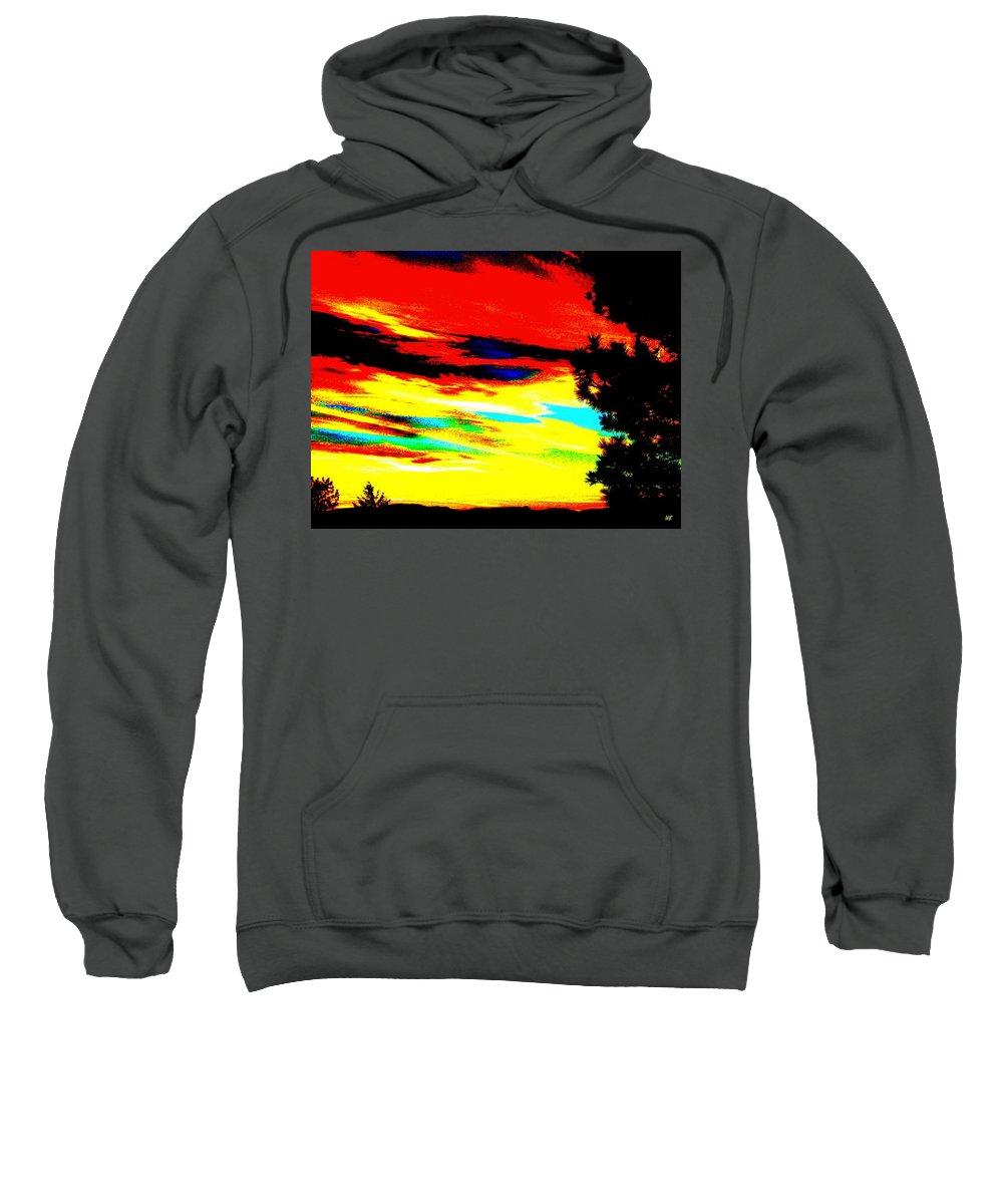 Abstract Sweatshirt featuring the digital art Desert Sky by Will Borden