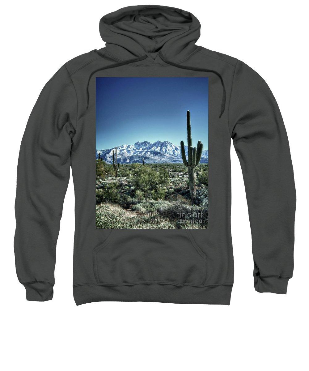 Arizona Sweatshirt featuring the photograph Desert Snow by Saija Lehtonen