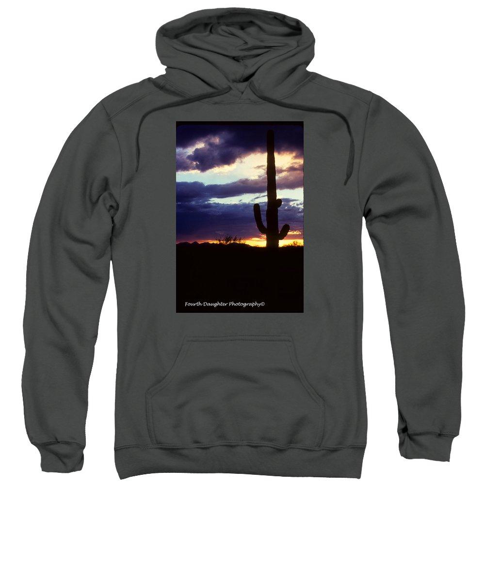 Arizona Sweatshirt featuring the photograph Desert Sunset by Diane Shirley