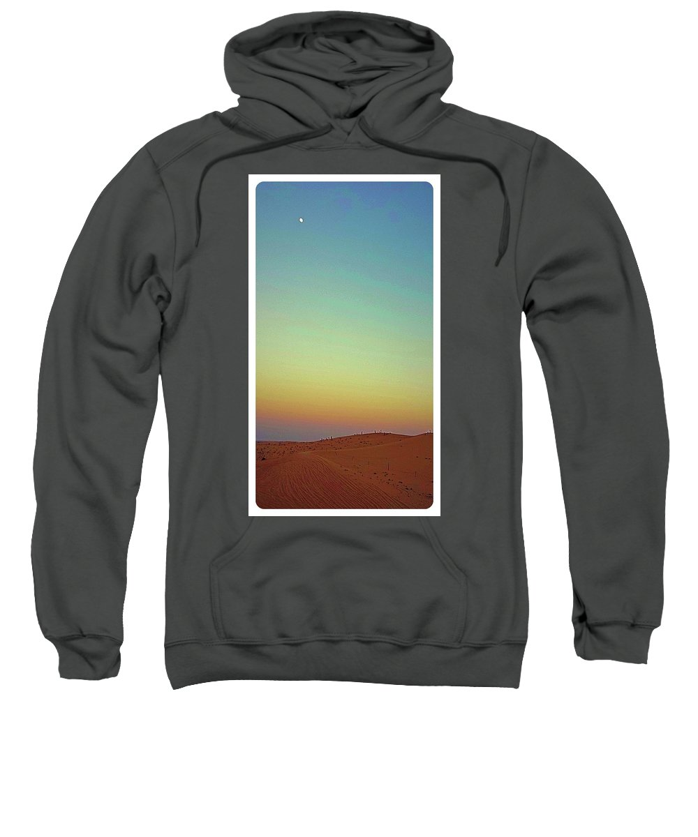 Desert Sweatshirt featuring the photograph Desert Sunset by Mario MJ Perron