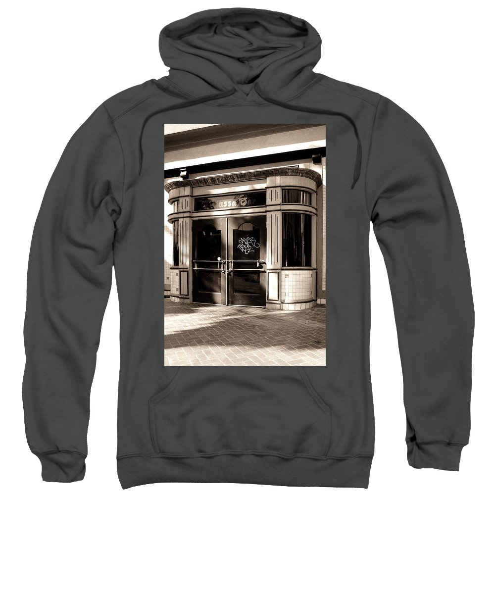 Downtown Palm Springs Sweatshirt featuring the photograph Desert Trattoria by William Dey