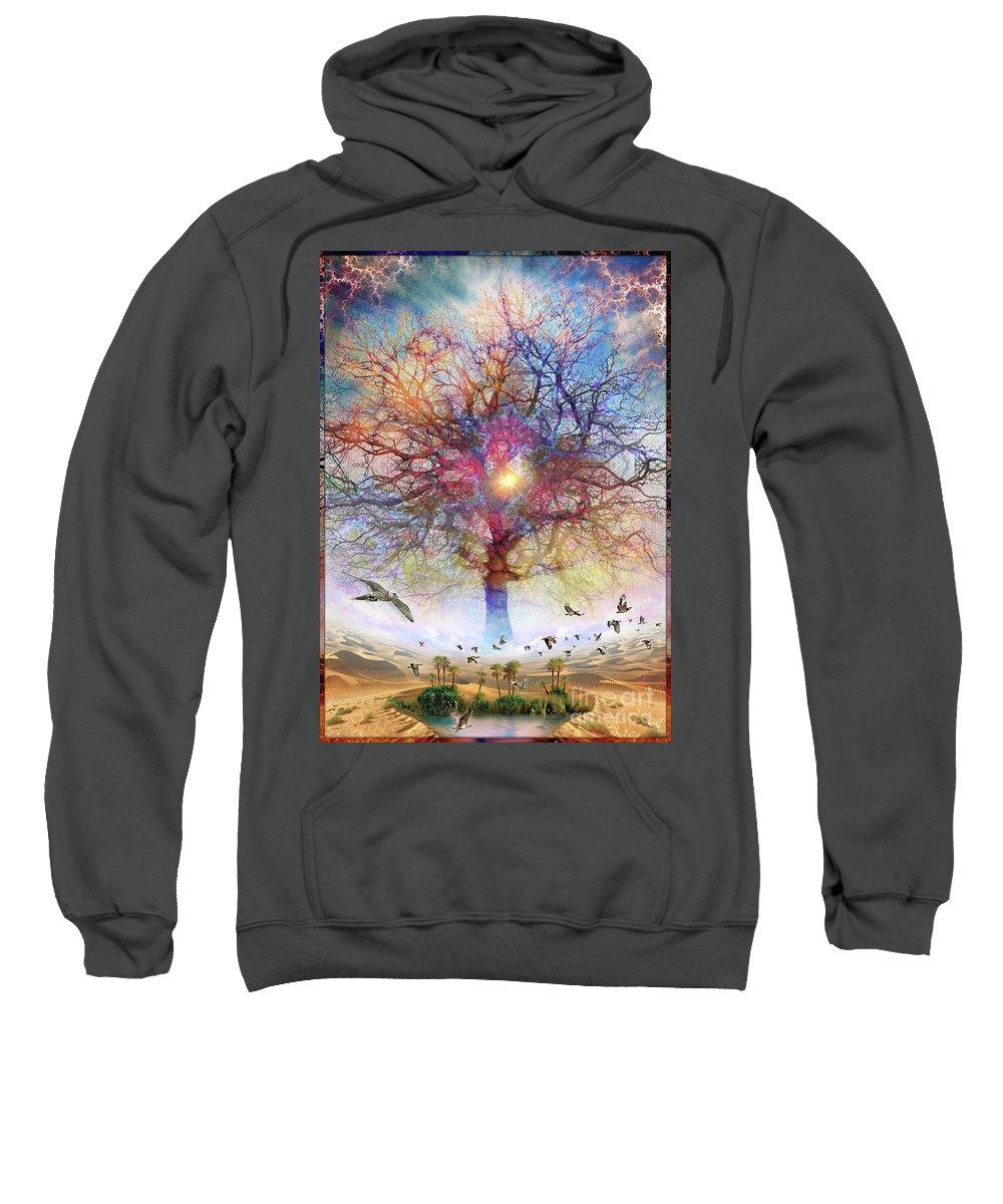 Birds Sweatshirt featuring the digital art Dessert of Forgotten Tree by Leonard Rubins