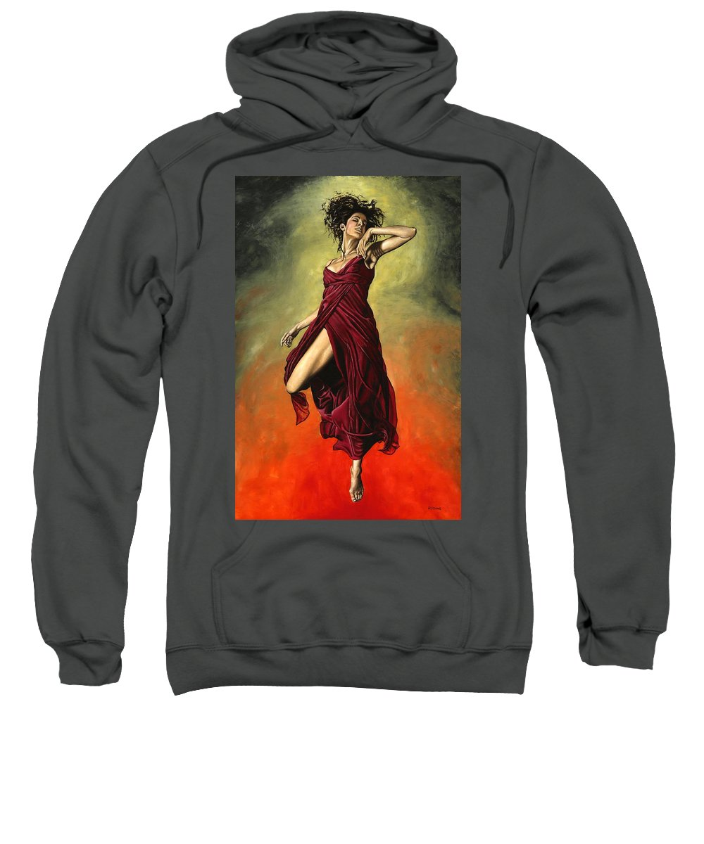 Dance Sweatshirt featuring the painting Destiny's Dance by Richard Young