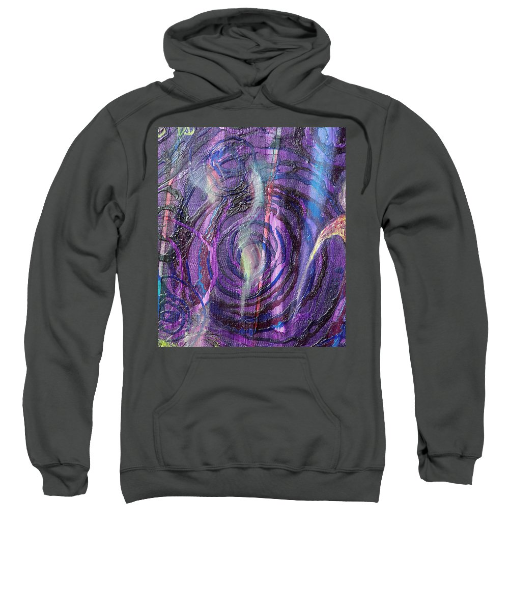 Psychedelic Sweatshirt featuring the painting Detail From Annuciation by Anne Cameron Cutri