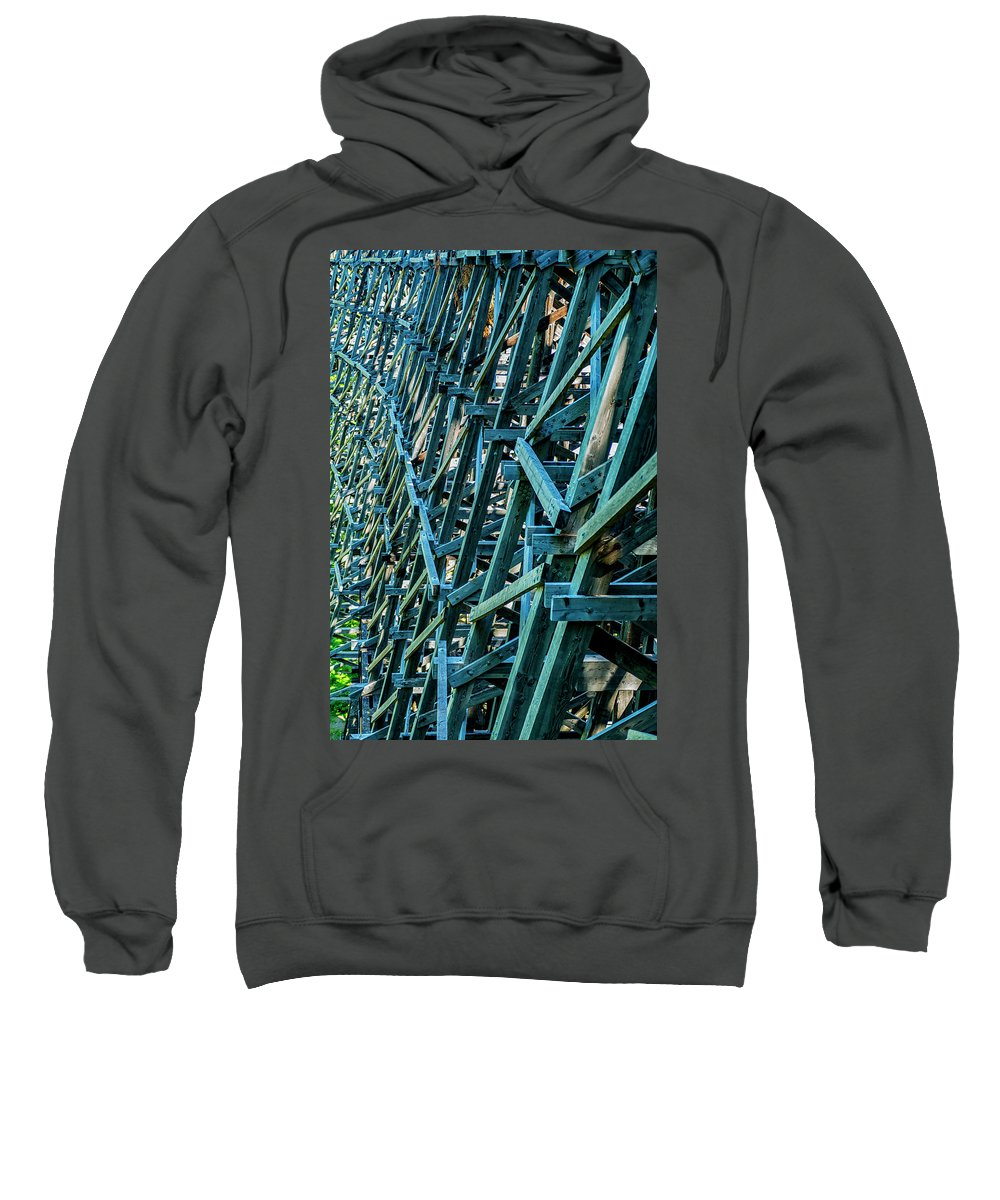 Background Sweatshirt featuring the photograph Detail View Of The Kinsol Trestle by Andrew Kim