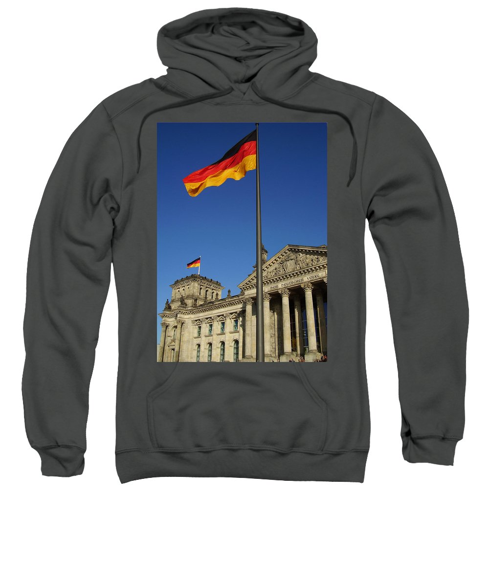 Deutscher Bundestag Sweatshirt featuring the photograph Deutscher Bundestag by Flavia Westerwelle
