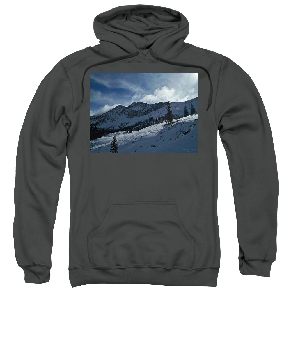 Ski Sweatshirt featuring the photograph Devils Castle Morning Light by Michael Cuozzo