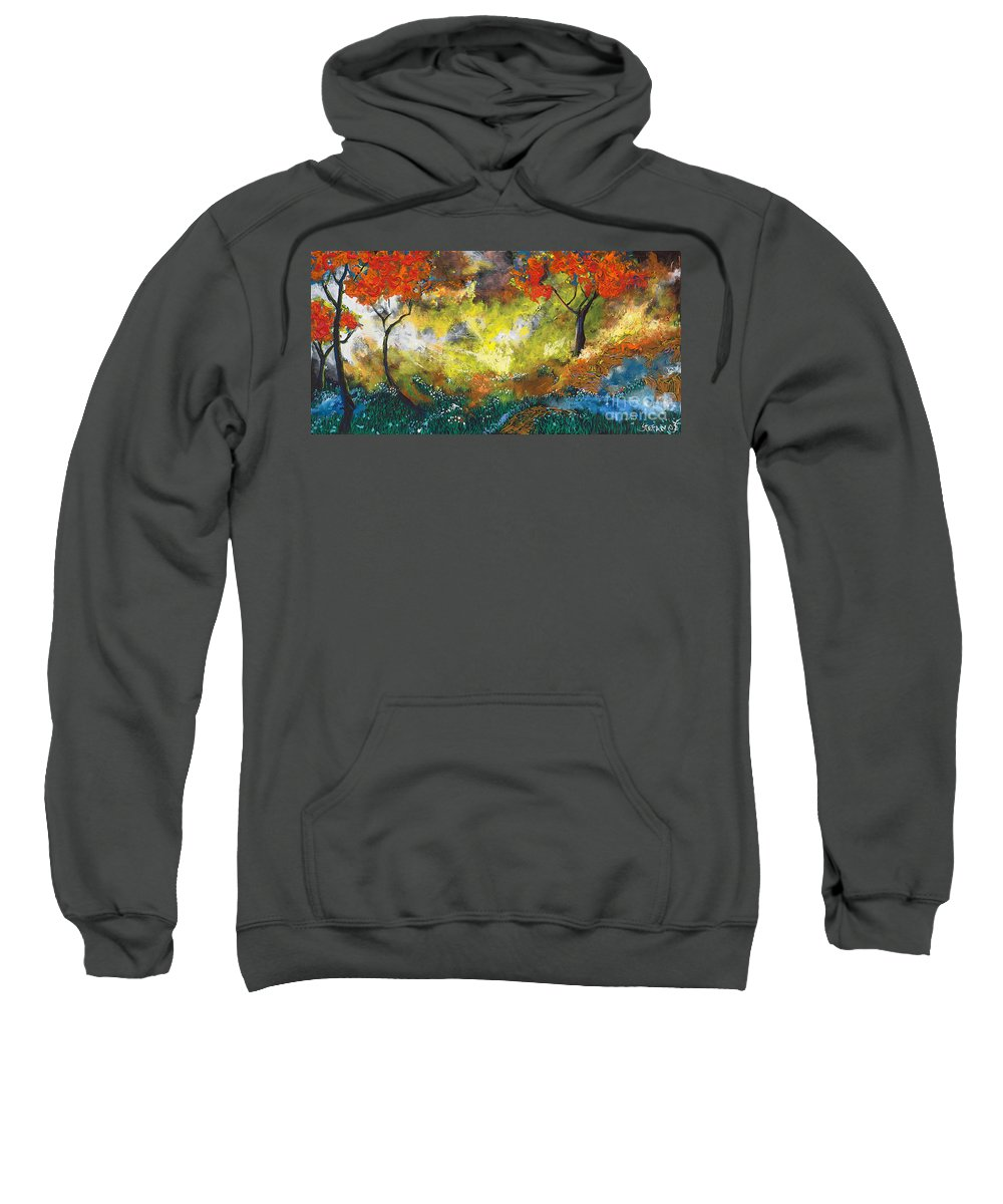 Landscape Sweatshirt featuring the painting Divinely Inspired by Stefan Duncan