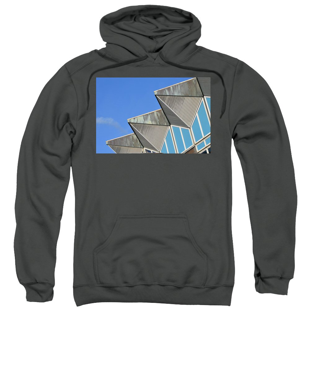 Architecture Sweatshirt featuring the photograph Diagonal Blue B by Donald Gibson