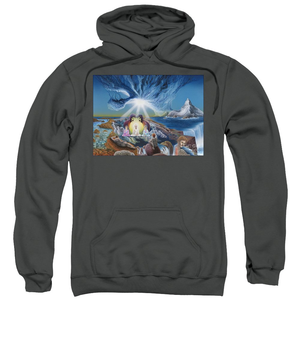 Surrealism Sweatshirt featuring the painting Diary of Third Recognition by Leonard Rubins