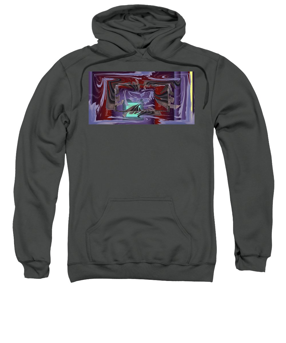 Dilemma Sweatshirt featuring the digital art Dilemma At High Tide by Tim Allen