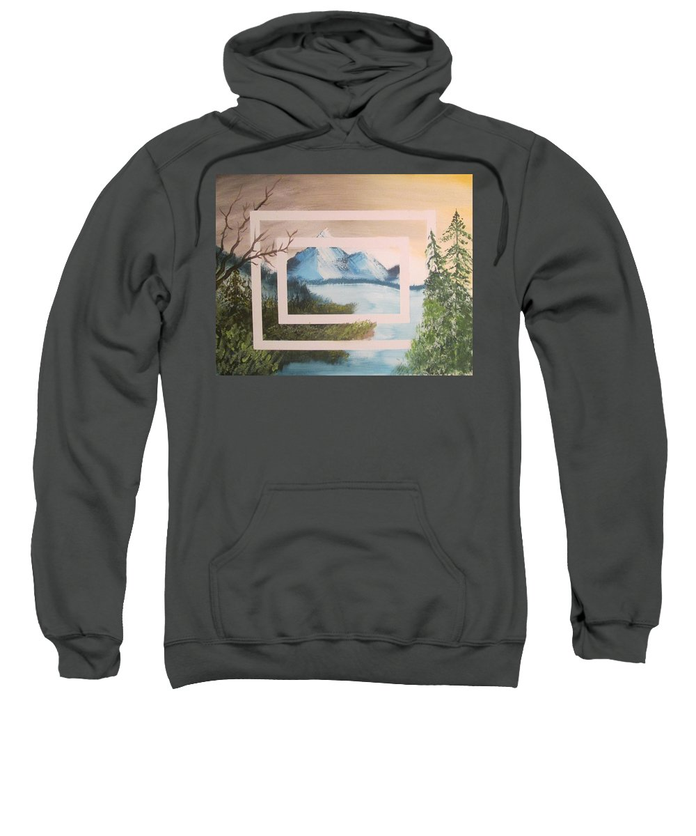 Landscape Sweatshirt featuring the painting Dimension by David Seter