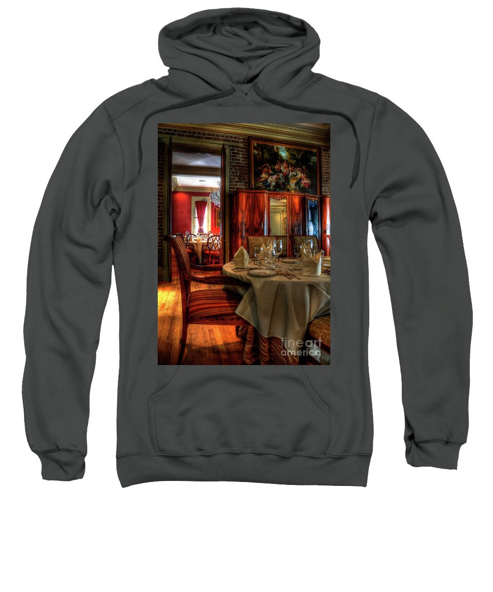 New Orleans Sweatshirt featuring the photograph Dining At Muriel's by Kathleen K Parker