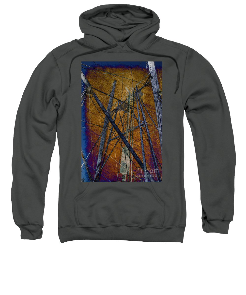 Rust Sweatshirt featuring the photograph Directions In The Sky by Susanne Van Hulst