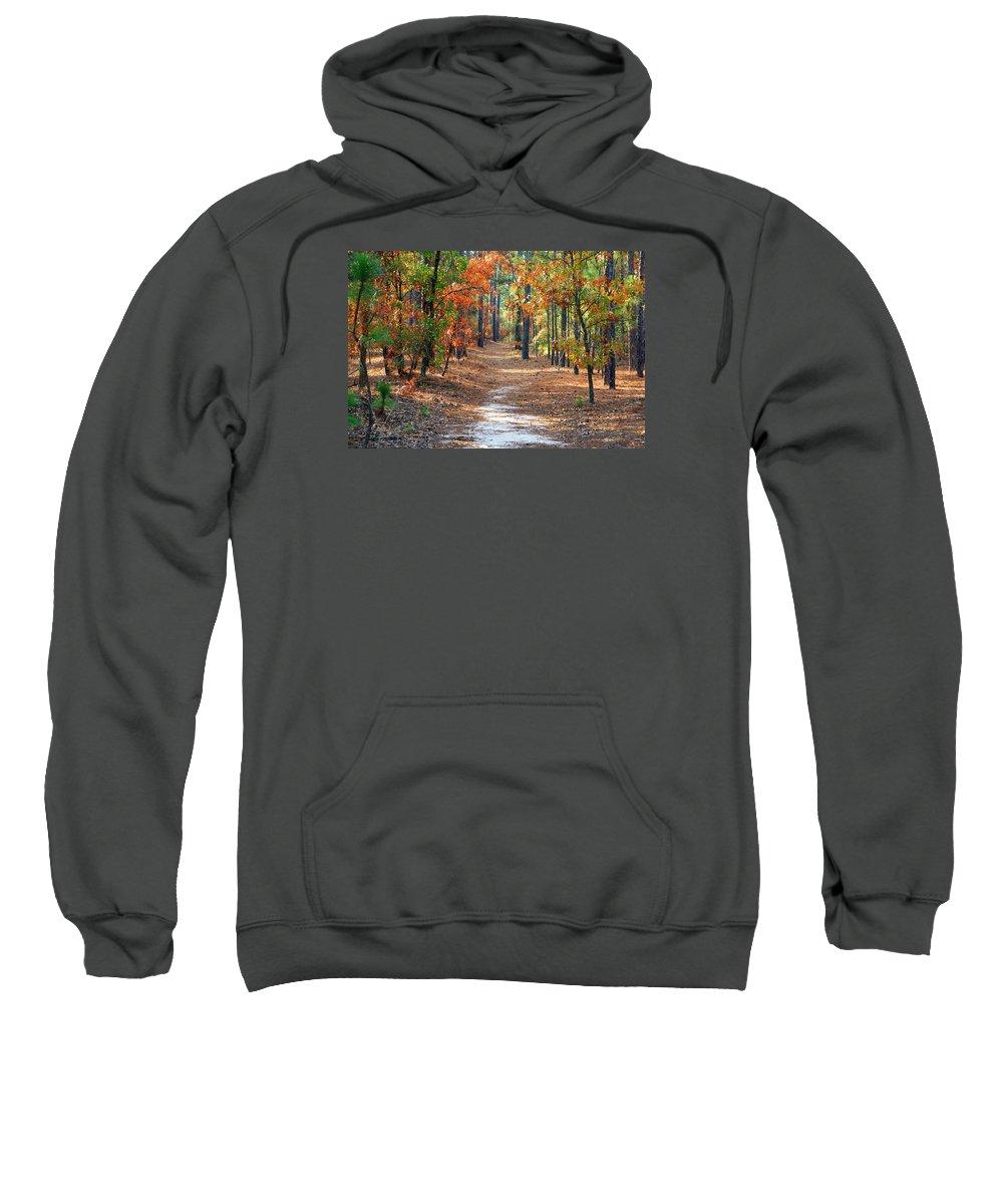 Autumn Scene Sweatshirt featuring the photograph Autumn Scene Dirt Road by Joseph C Hinson Photography