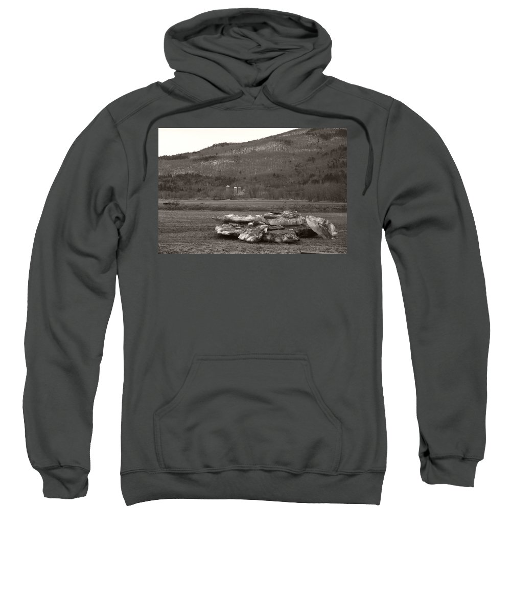 Sweatshirt featuring the photograph Dirty Bergs by Heather Kirk