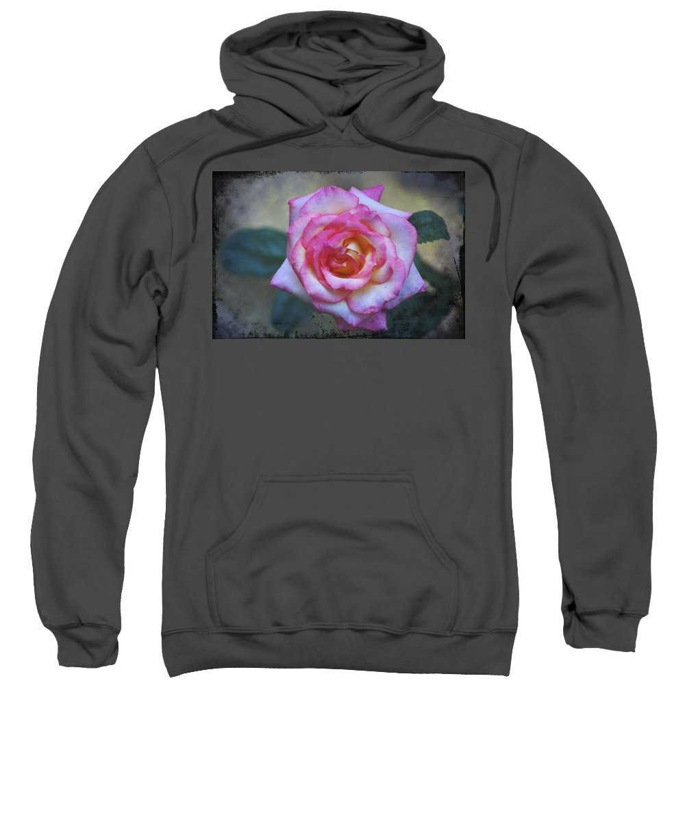 Dirty Sweatshirt featuring the photograph Dirty Pink Rose by Bill Cannon