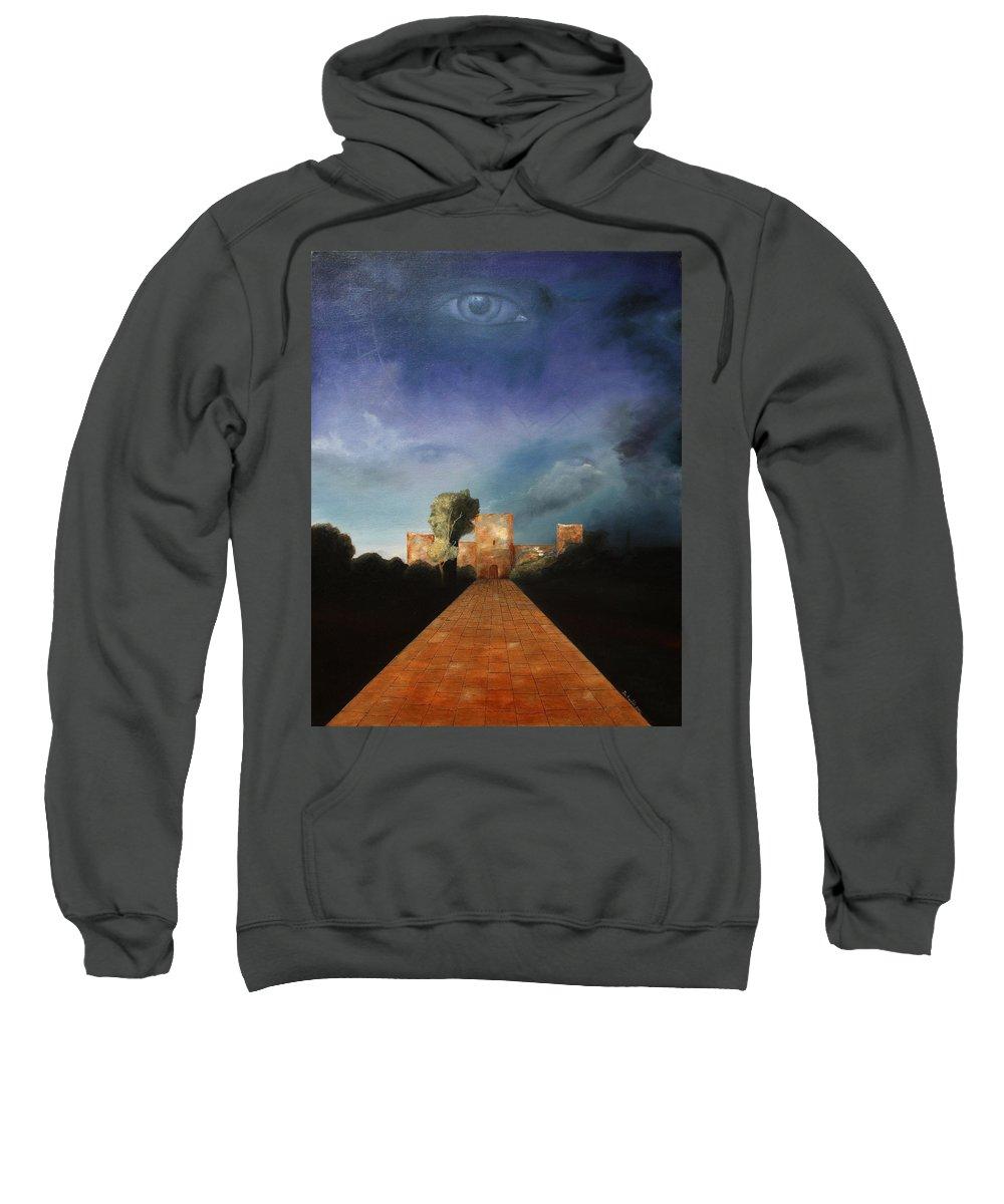 Disclosure Of The Hidden Sweatshirt featuring the painting Disclosure Of The Hidden by Darko Topalski