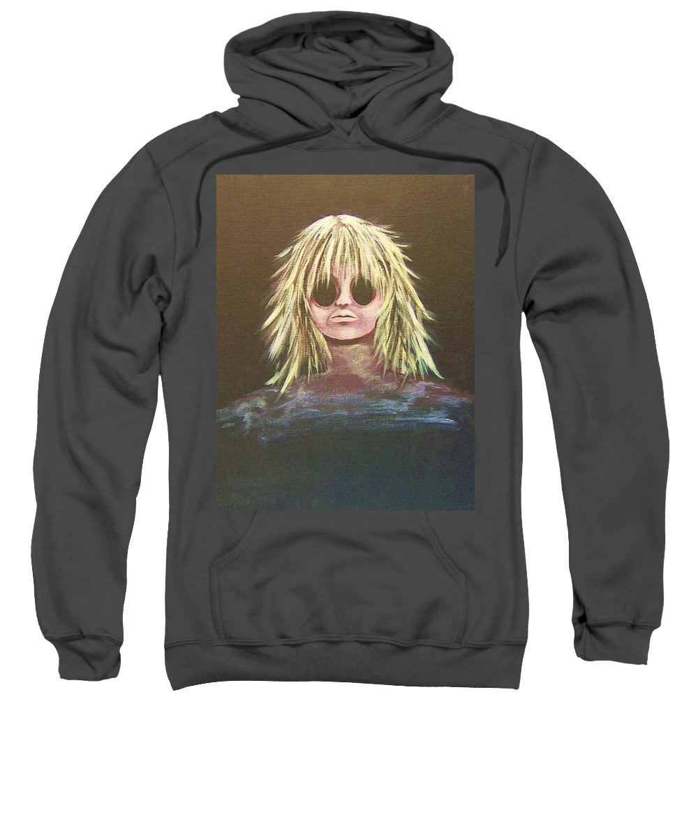 Abstract Sweatshirt featuring the painting Disconnected by Deahn   Benware