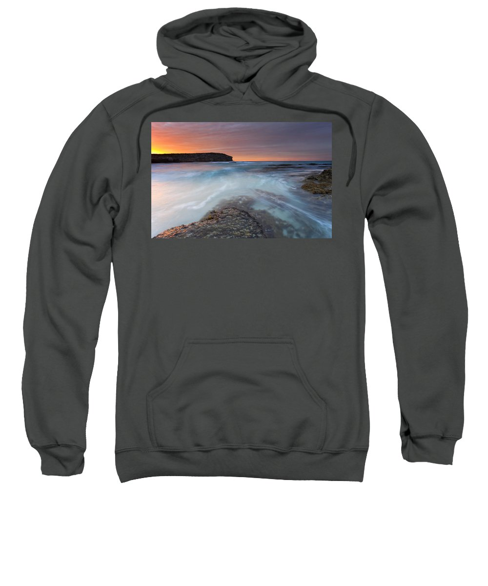 Dawn Sweatshirt featuring the photograph Divided Tides by Mike Dawson