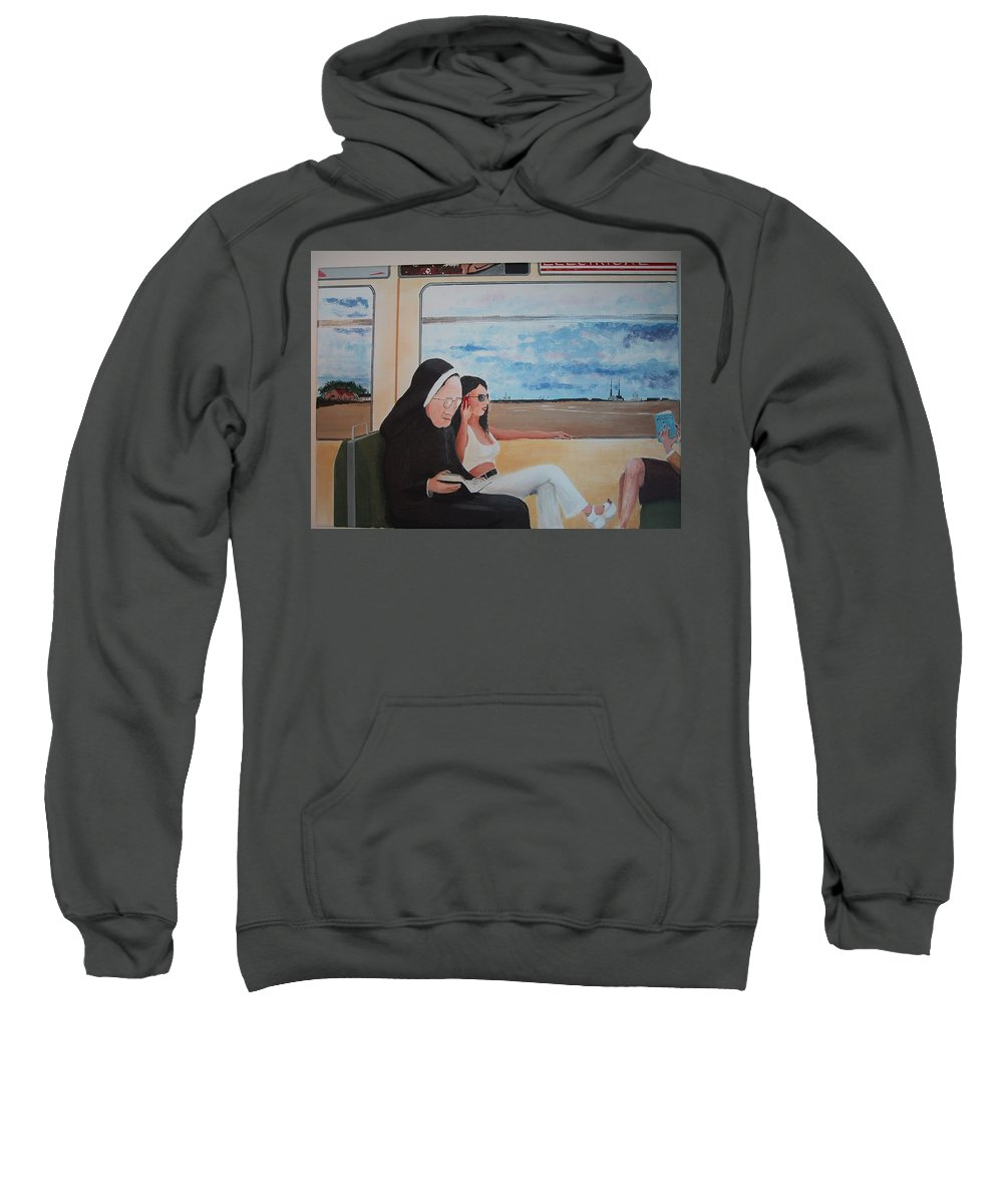 Divine Sweatshirt featuring the painting Divine Secrets by Tony Gunning