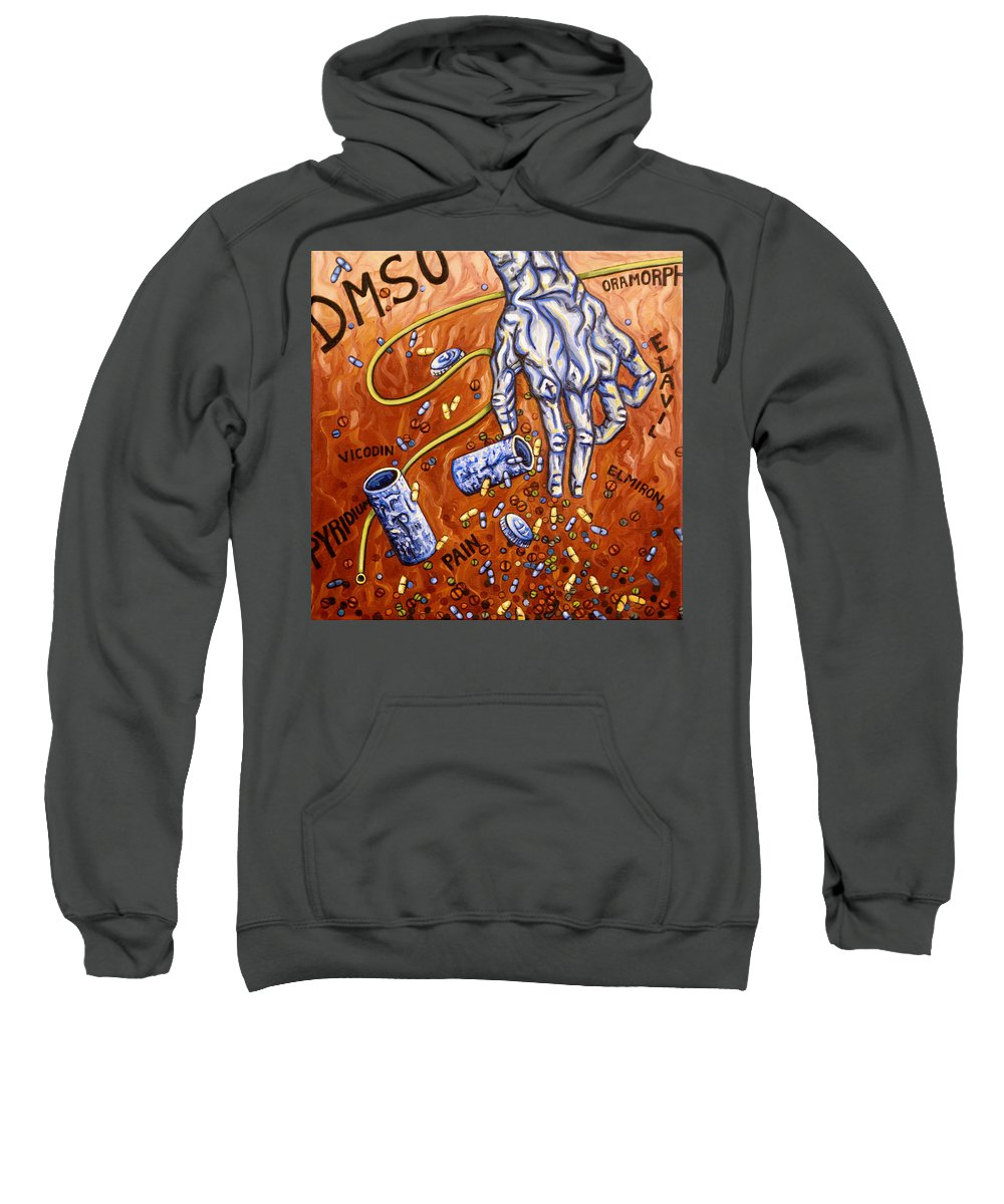 Pain Sweatshirt featuring the painting Dmso by Judy Henninger