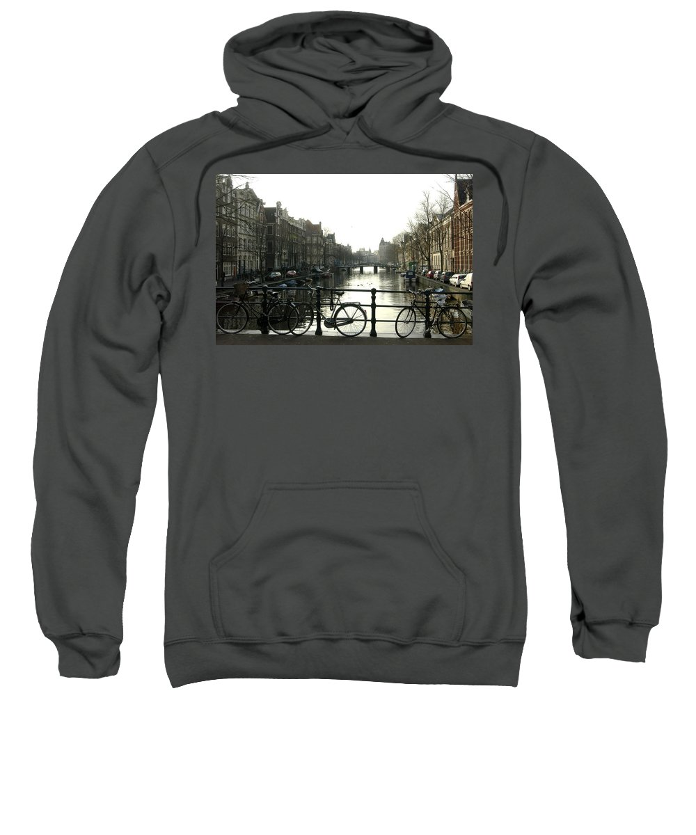 Landscape Amsterdam Red Light District Sweatshirt featuring the photograph Dnrh1103 by Henry Butz
