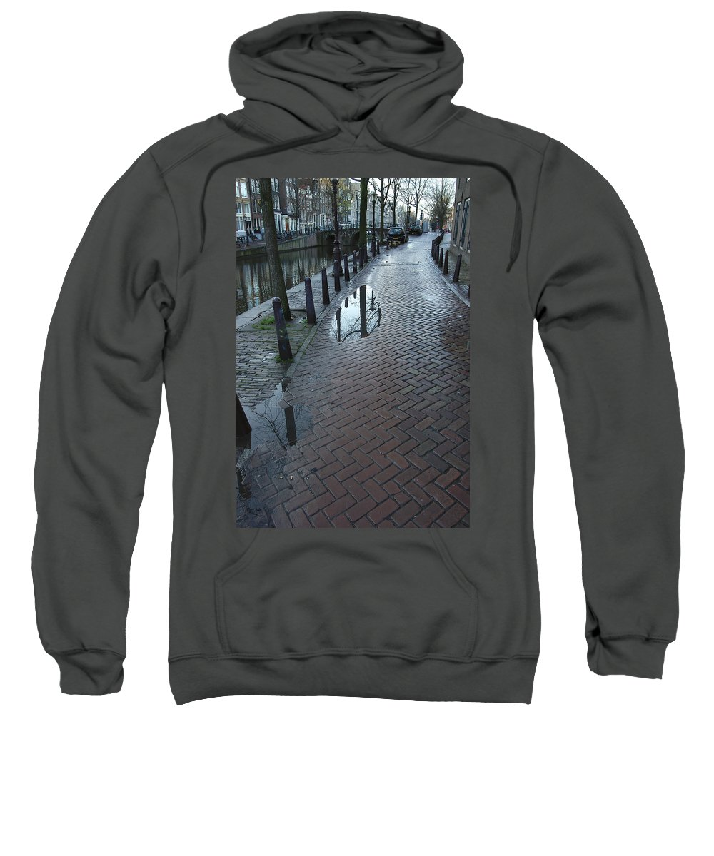 Landscape Amsterdam Red Light District Sweatshirt featuring the photograph Dnrh1109 by Henry Butz