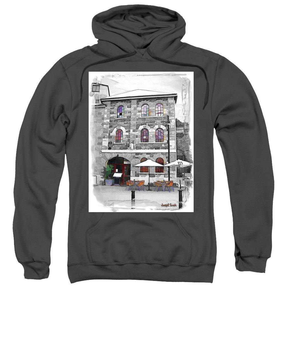 Salamanca Sweatshirt featuring the photograph Do-00297 Salamanca Restaurant by Digital Oil