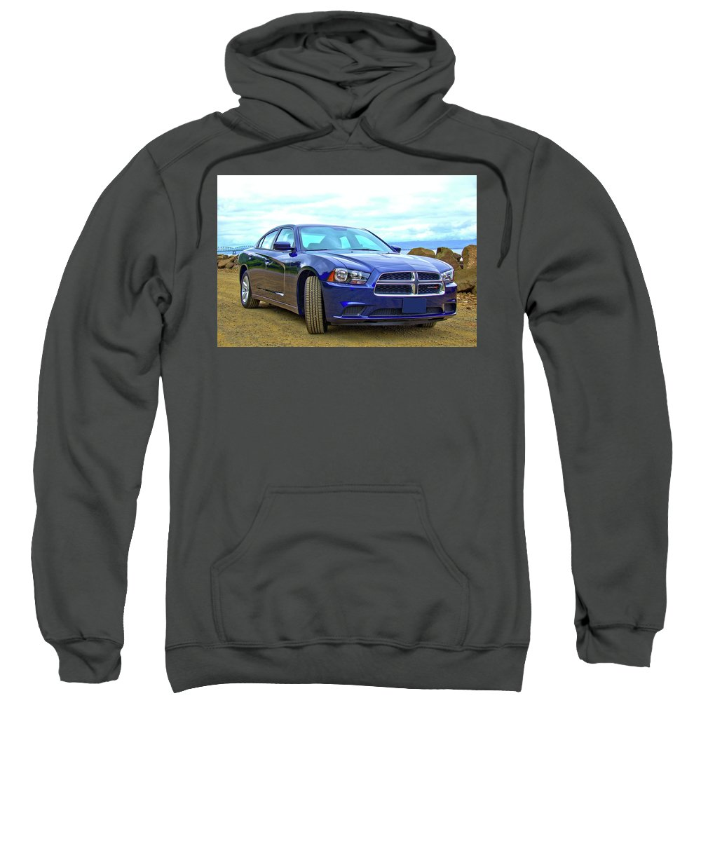 Charger Sweatshirt featuring the photograph Dodge Charger by KC Von