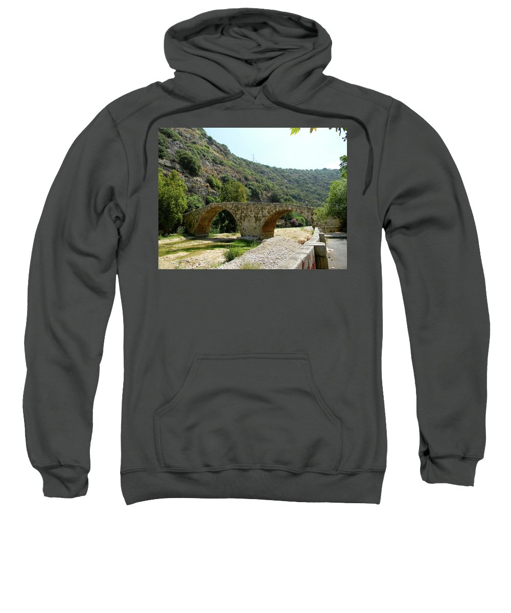 Lebanon. Dog River Sweatshirt featuring the photograph Dog River by Marwan George Khoury