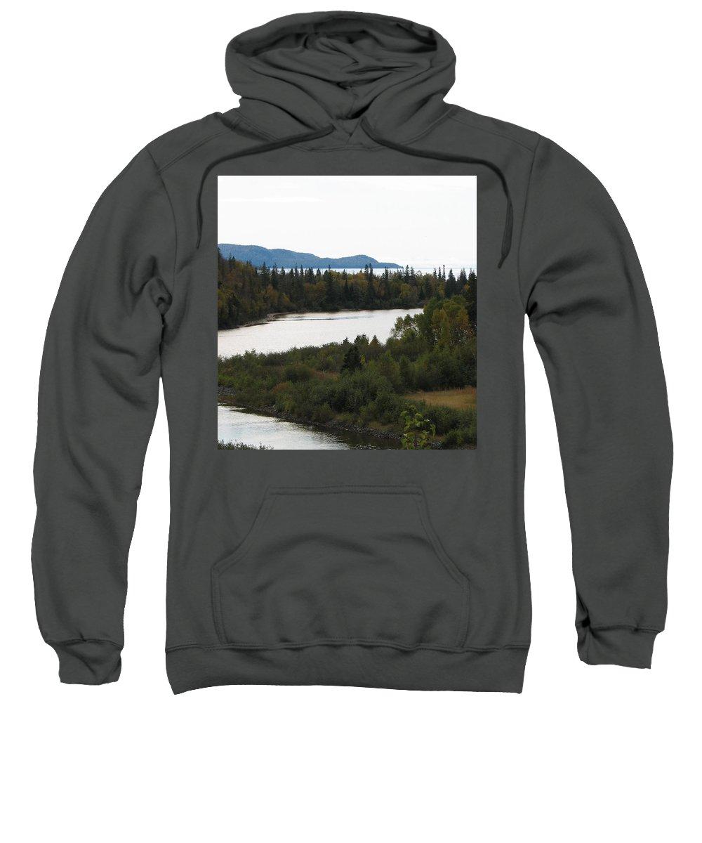 River Sweatshirt featuring the photograph Dogleg by Kelly Mezzapelle