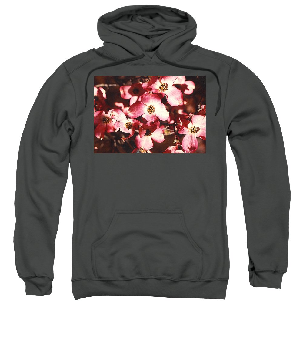 Dogwood Sweatshirt featuring the photograph Dogwood Harmony by Nancy Mueller