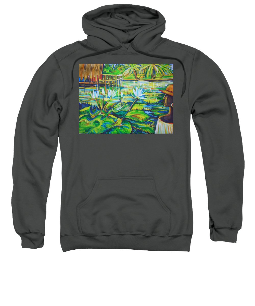 Tropics Sweatshirt featuring the painting Dominicana by Anna Duyunova