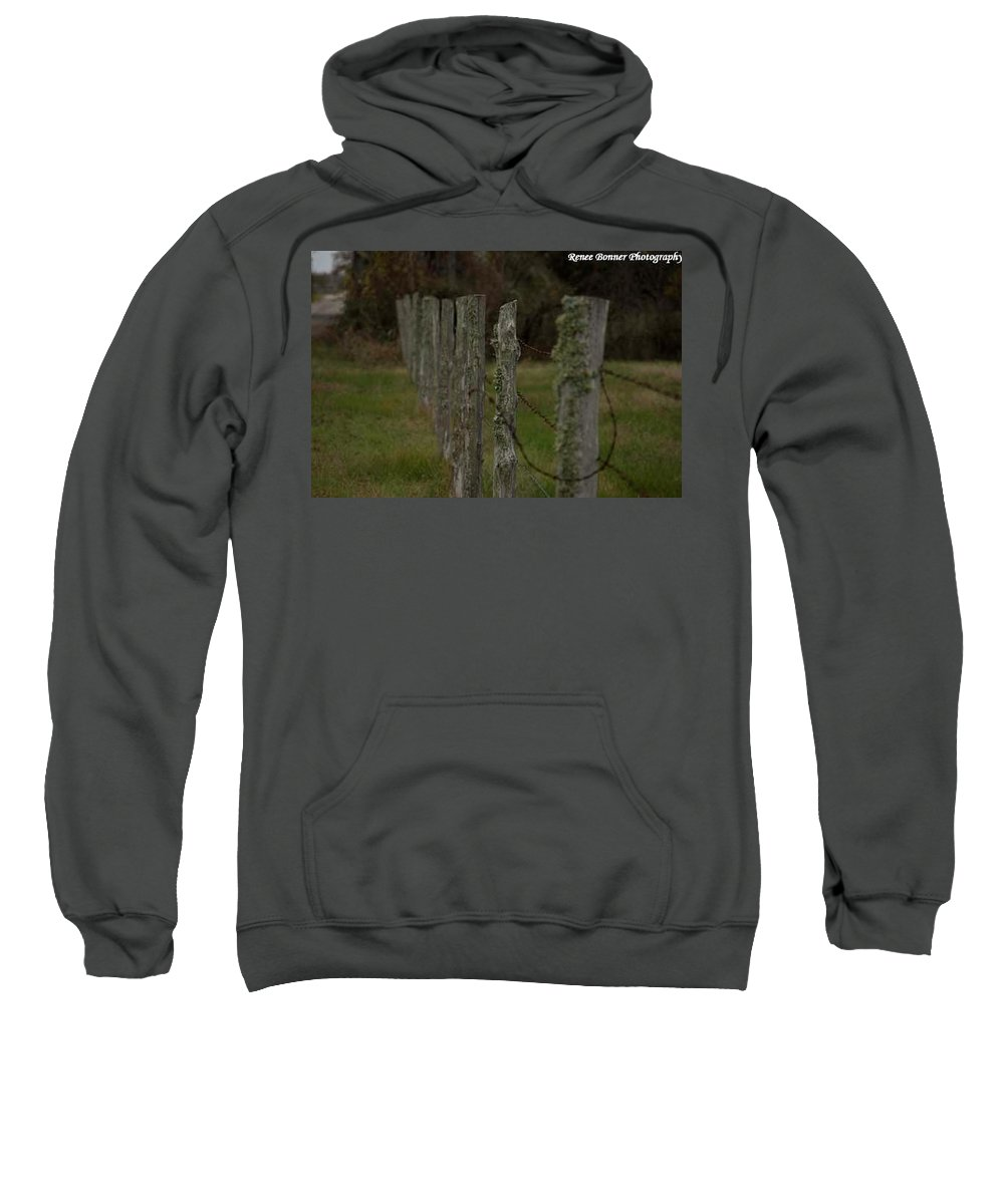 Old Fence Sweatshirt featuring the photograph Don't Fence Me In by Renee Bonner