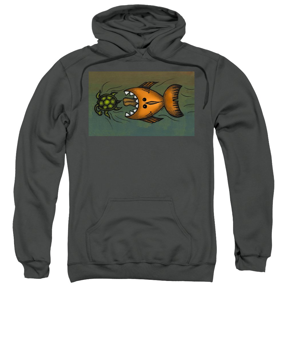 Fish Sweatshirt featuring the digital art Don't Look Back by Kelly Jade King