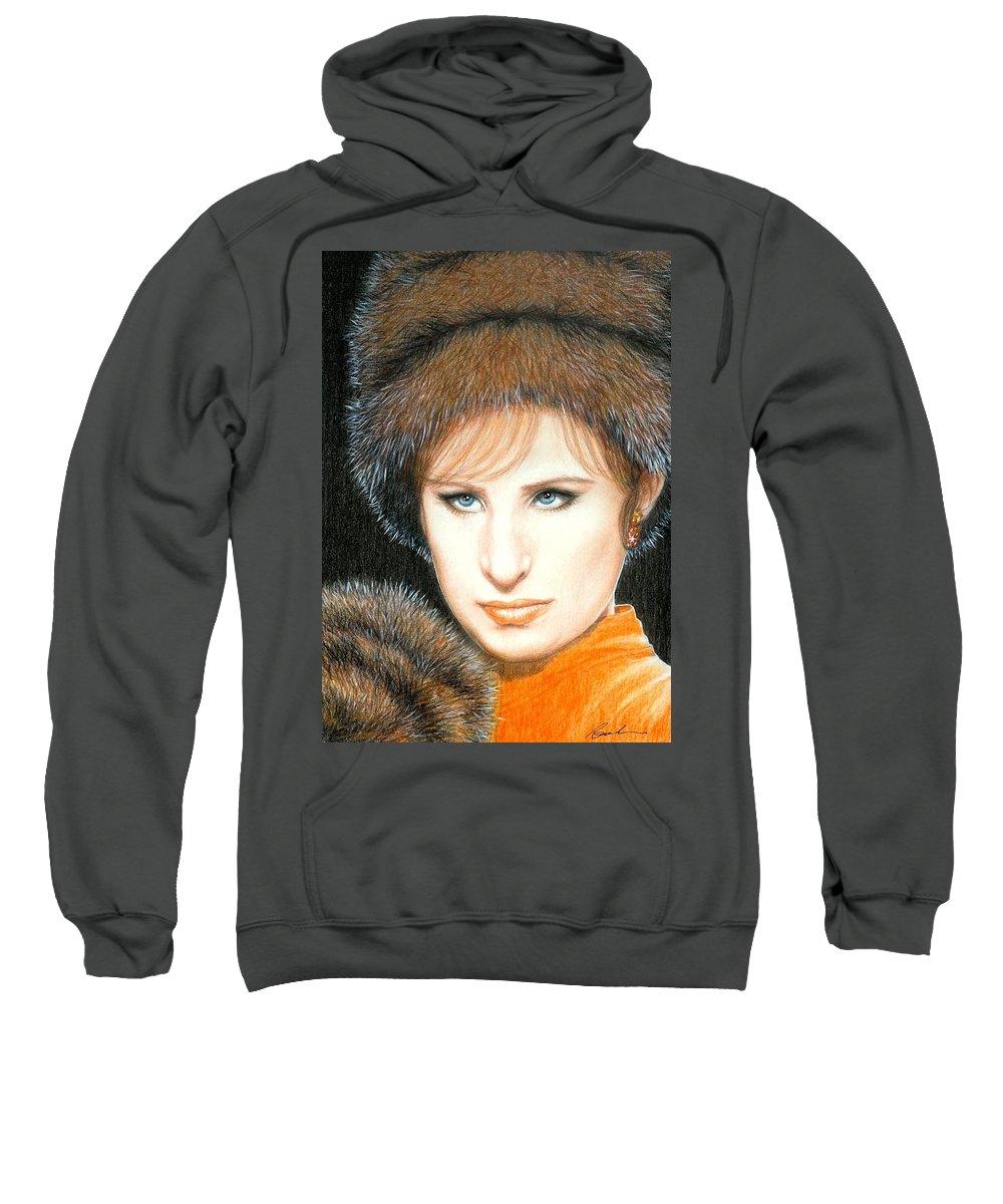 Barbra Streisand Funny Girl Bruce Lennon Art Sweatshirt featuring the painting Don't Rain On My Parade by Bruce Lennon
