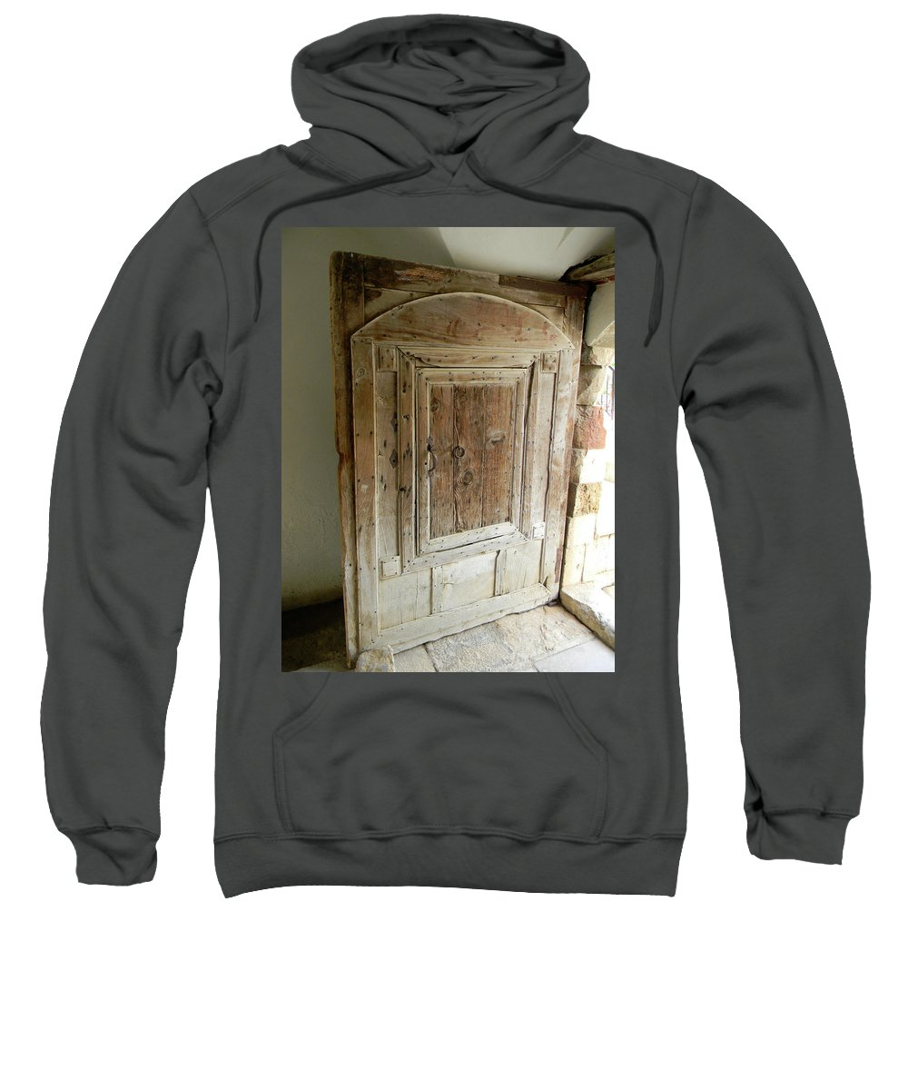 Marwan George Khoury Sweatshirt featuring the photograph Door To Feudal Times by Marwan George Khoury