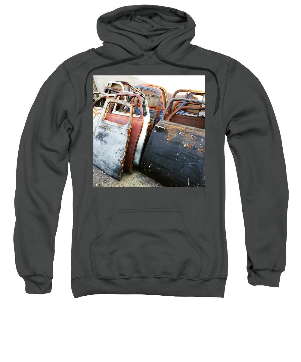Sweatshirt featuring the photograph Doorman by Mark Etchart