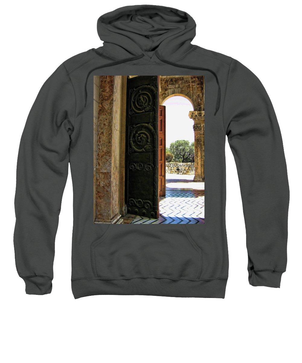 Doors Sweatshirt featuring the photograph Doors To All Nations by Douglas Barnard