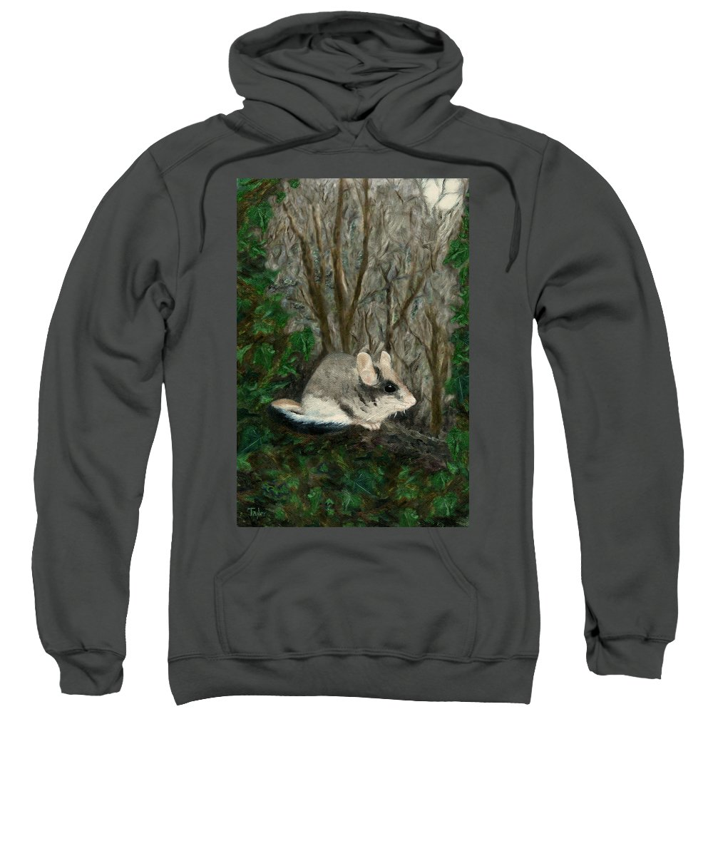 Dormouse Sweatshirt featuring the painting Dormouse In Ivy by FT McKinstry