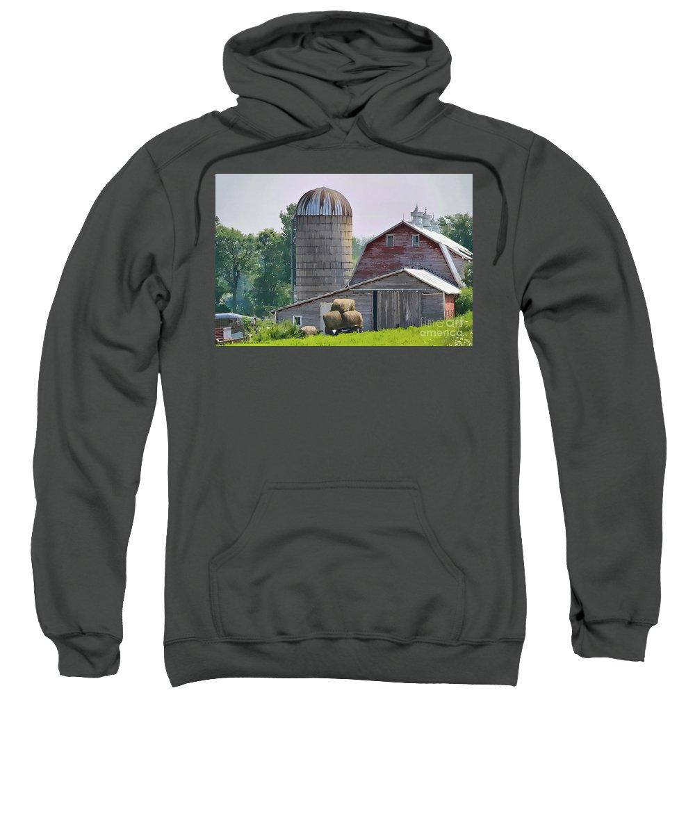 Rural Sweatshirt featuring the photograph Dorset Street Barn by Deborah Benoit