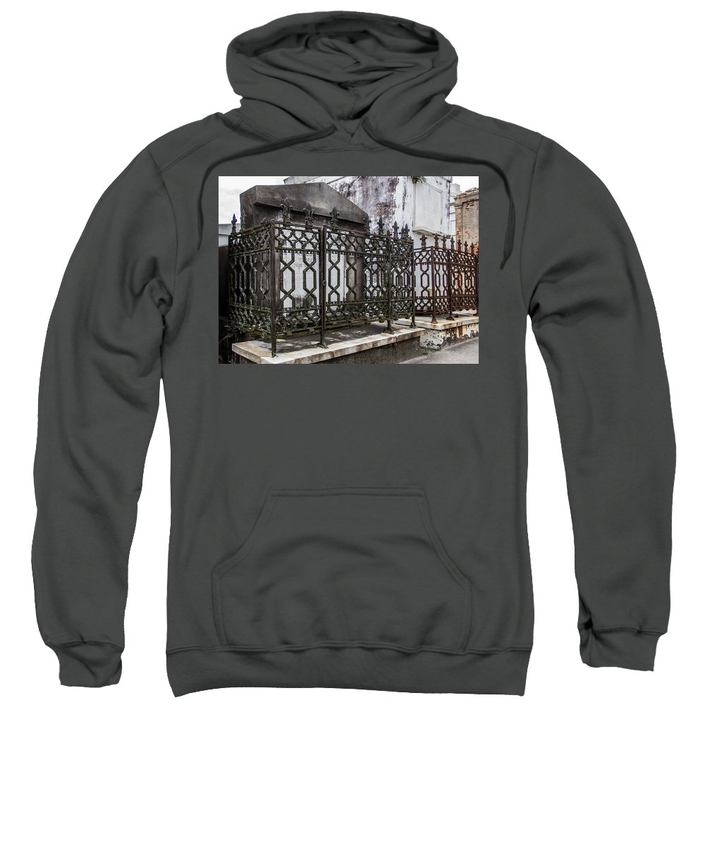 Above Ground Cemetery Sweatshirt featuring the photograph Double-crossed by Robert Kinser