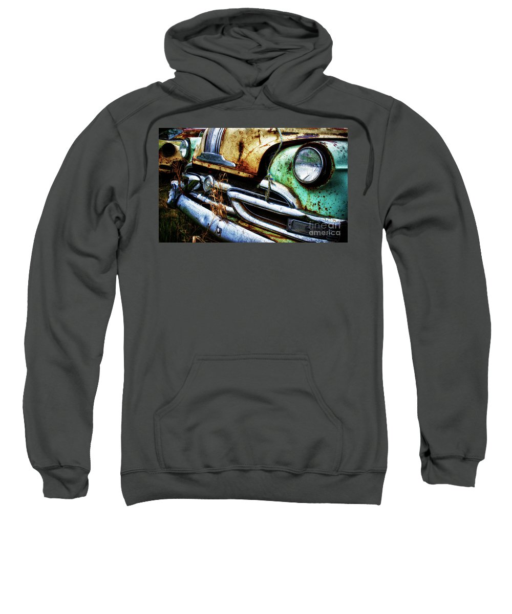 Antiques Sweatshirt featuring the photograph Down In The Dumps 1 by Bob Christopher