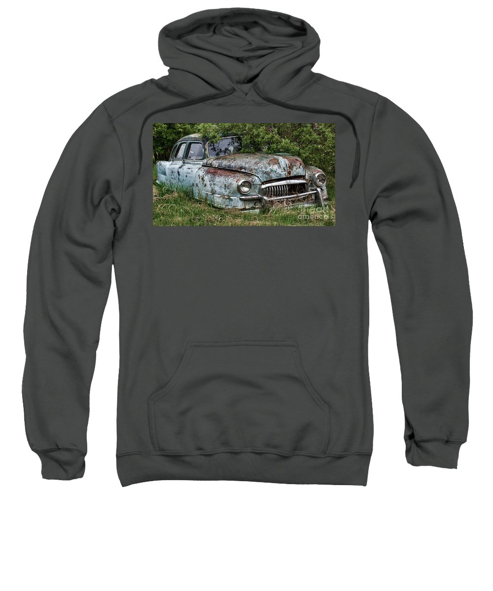 Antiques Sweatshirt featuring the photograph Down In The Dumps 20 by Bob Christopher