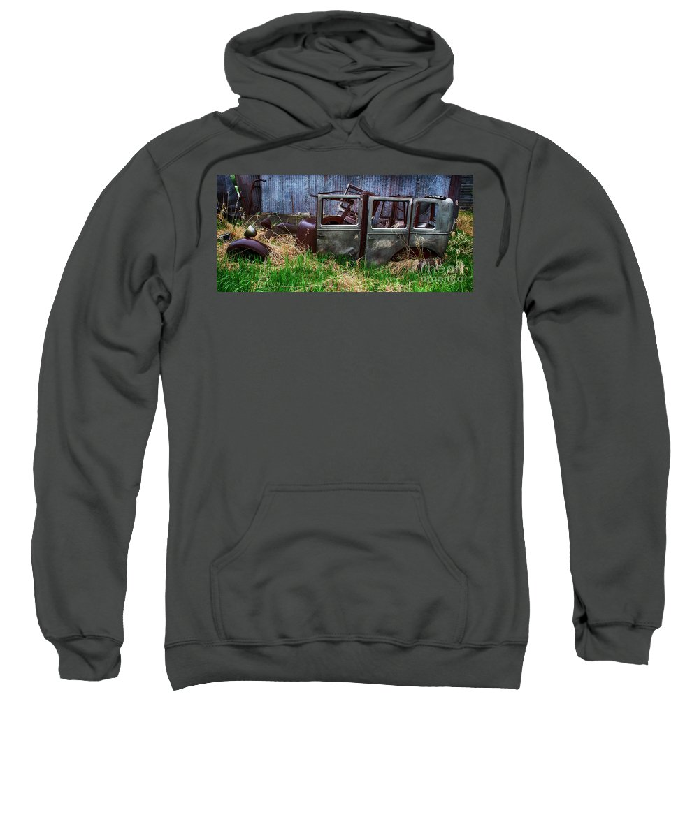 Antiques Sweatshirt featuring the photograph Down In The Dumps 21 by Bob Christopher