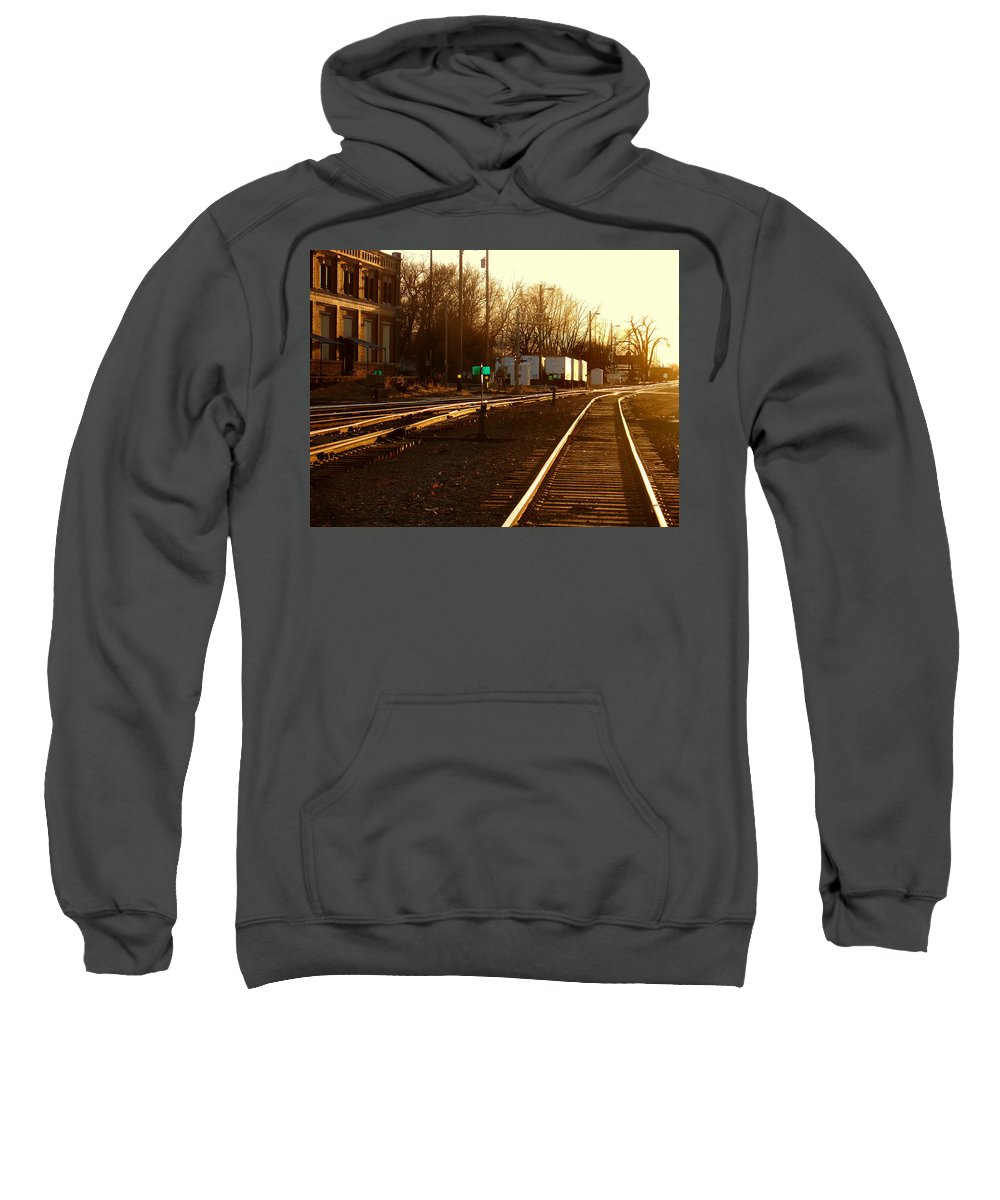 Landscape Sweatshirt featuring the photograph Down The Right Track by Steve Karol