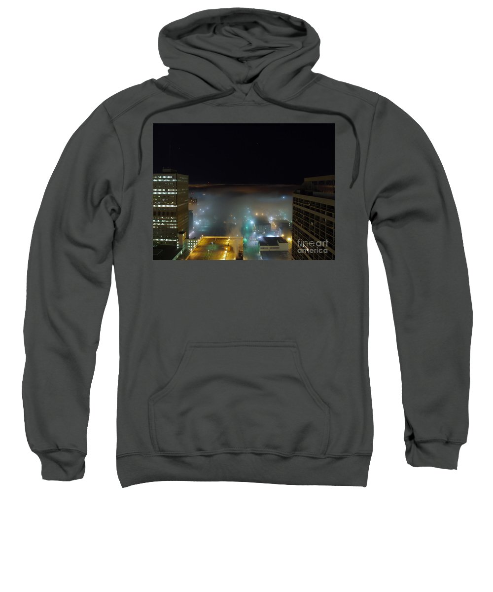 Photograph Sweatshirt featuring the photograph downtown Calgary2 by Seon-Jeong Kim