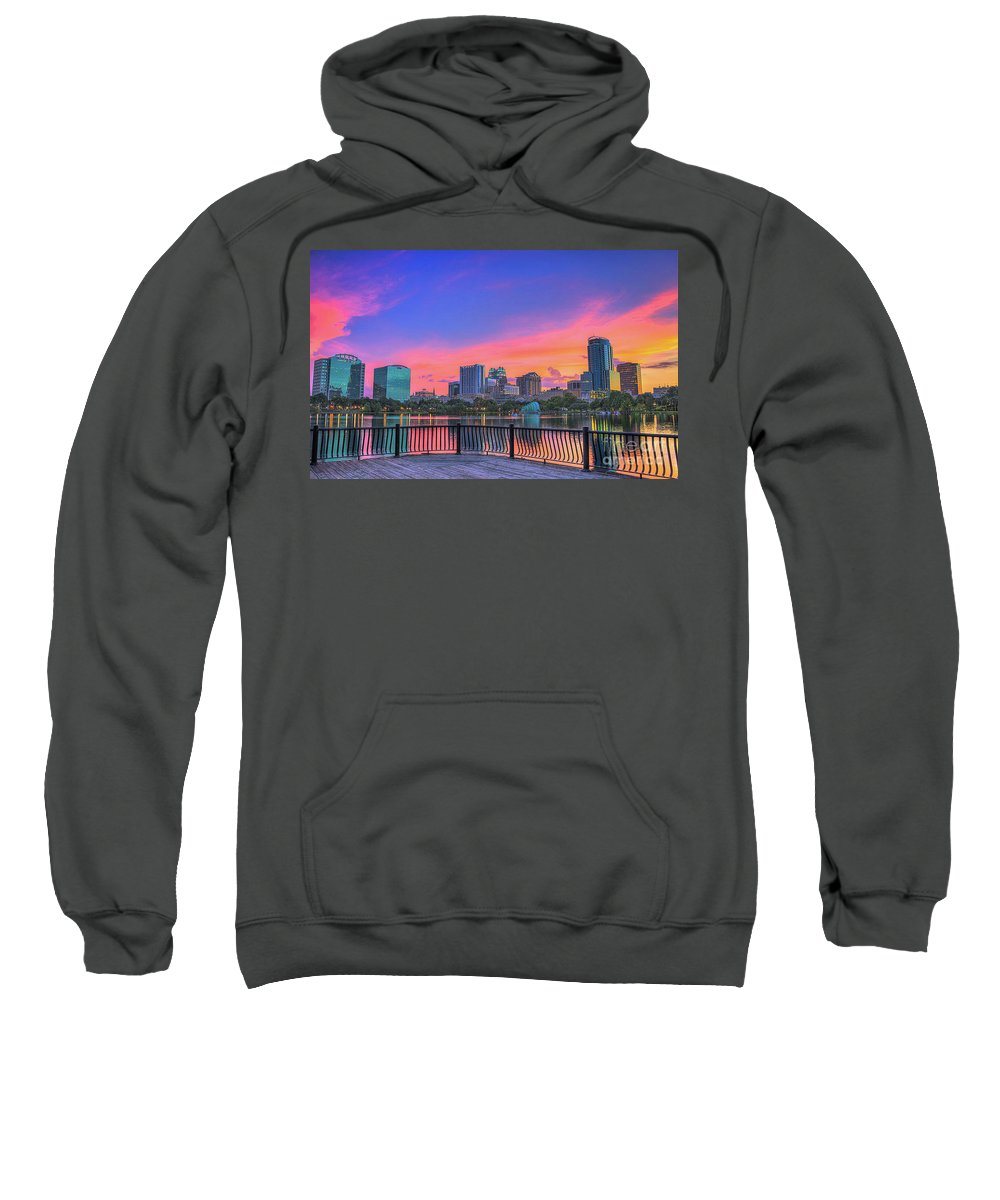 Downtown Orlando Sweatshirt featuring the photograph Downtown Orlando Florida by Davids Digits