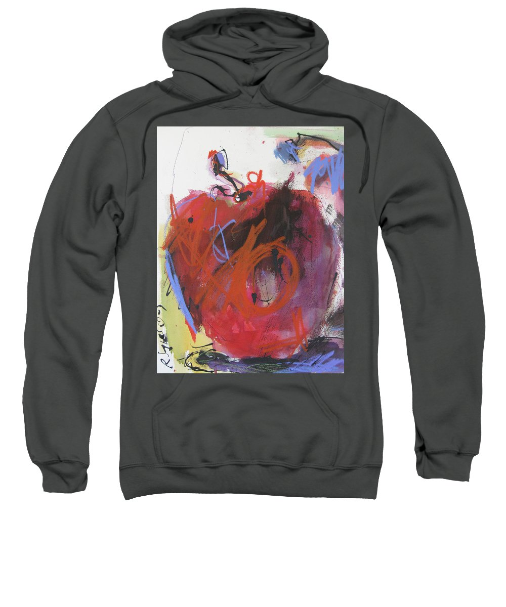 Apple Sweatshirt featuring the painting Dr. Repellent by Robert Joyner
